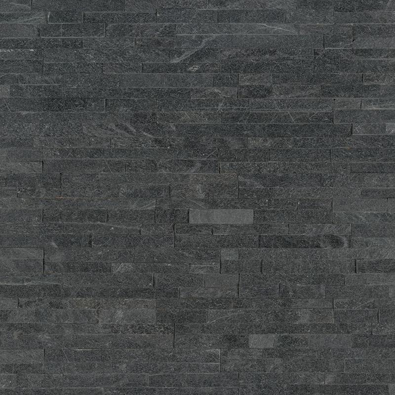 Stacked Stone M Series Coal Canyon 4.5x16, Split-Face, Black, Ledger-Panel, Quartzite, Tile