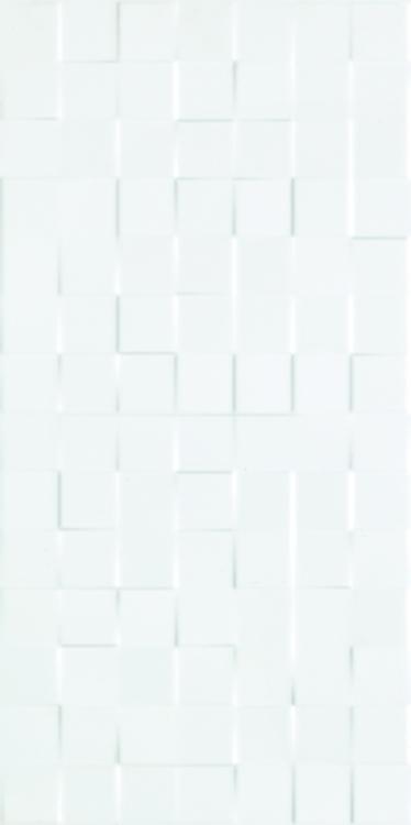 3d Square White Polished 12x24 Ceramic  Tile