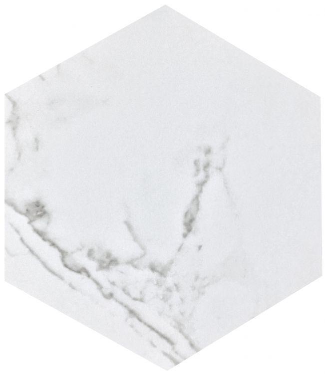 Carrara Premium Matte, Glazed 8x9 Porcelain  Tile