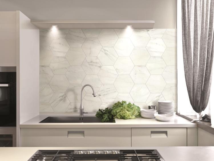 Canalgrande Esagona Matte, Glazed 9.5x11 Porcelain  Tile