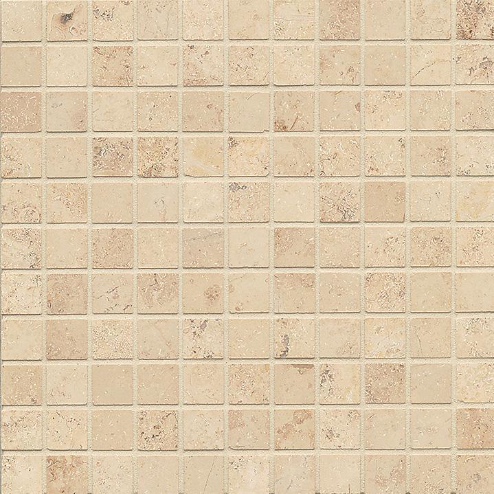 Limestone Jura Beige 1x1 Square Honed   Mosaic (Discontinued)