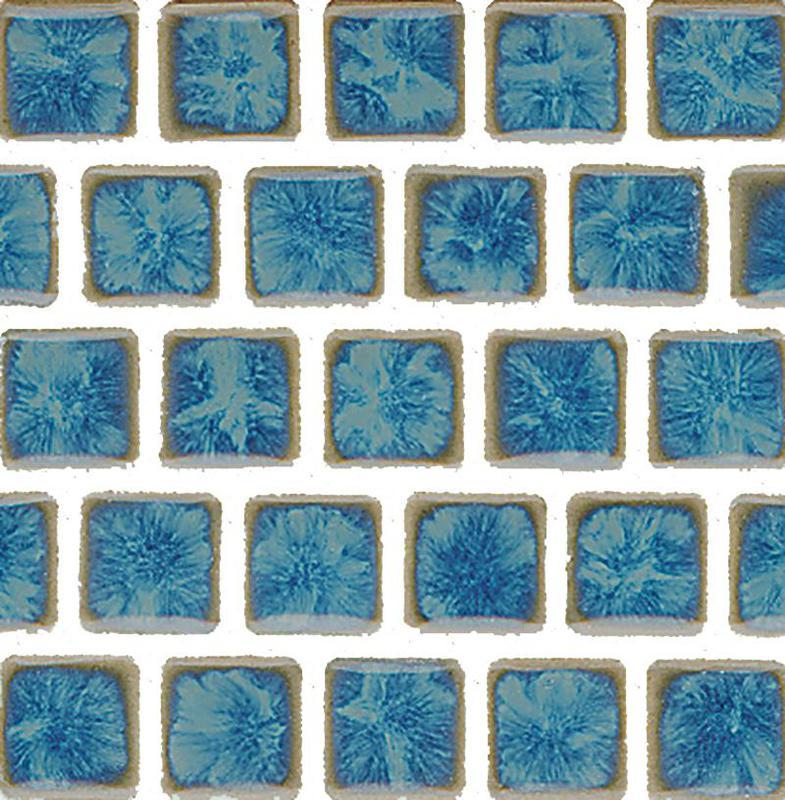 Mini Kyon Pacific Blue 1x1, Smooth, Square, Porcelain, Mosaic