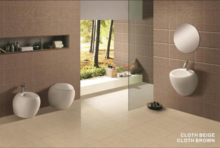 Cloth Brown Matte, Glazed 12x24 Porcelain  Tile