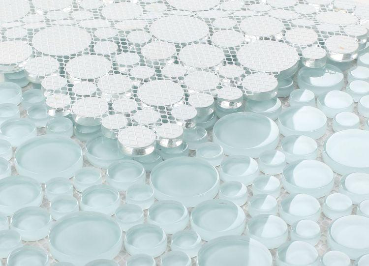 Lady Turquoise Circular  Glass  Mosaic