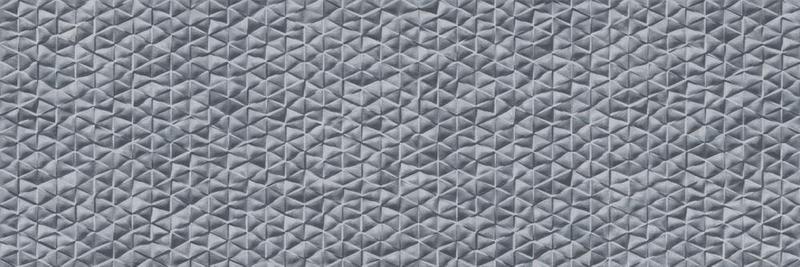 Tri Arc Acero Dark Grey Glazed, Glossy, Textured 12x36 Ceramic  Tile