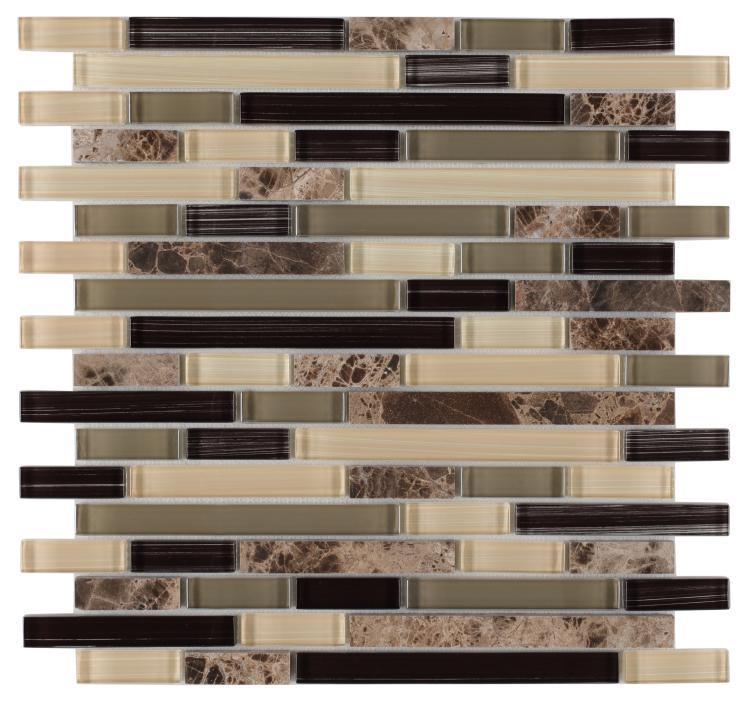 Linear Glass City Mosaic