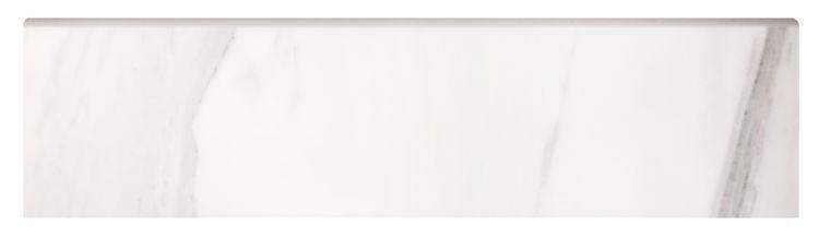 Volakas Premium Glazed, Polished 3x12 Porcelain Bullnose