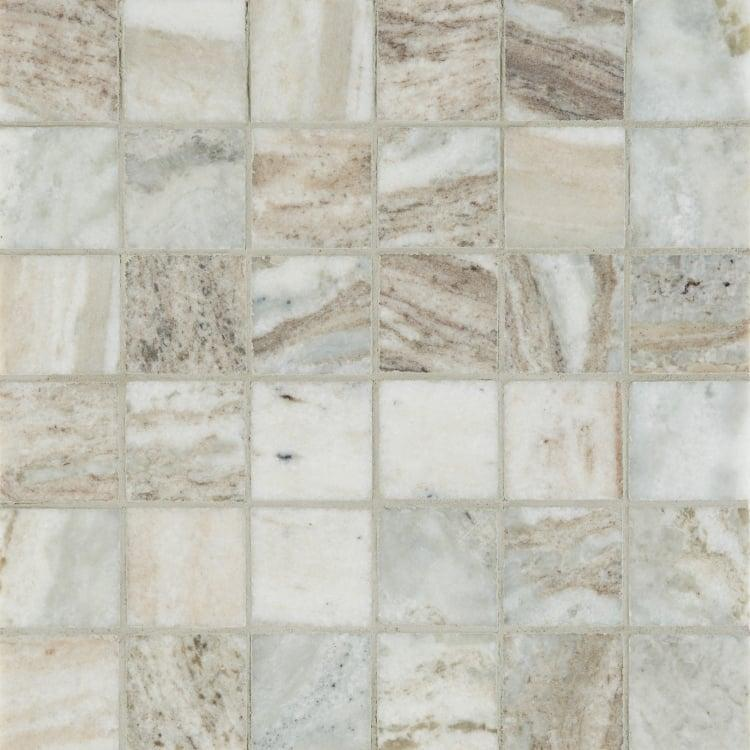 Marble Fantasy Brown 2x2 Square Honed   Mosaic