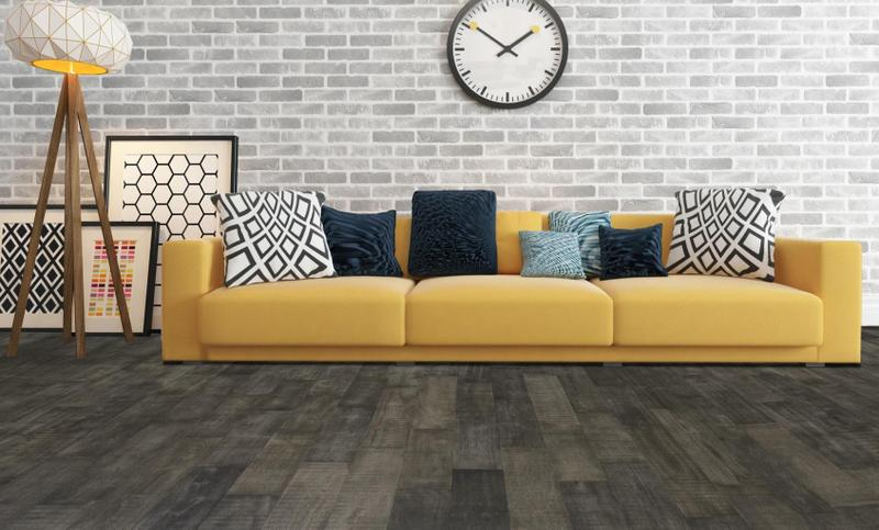 Avery Park Acacia Solid Collection Charcoal 4.75xfree length, Wire-Brushed, Dark Grey, Big-Leaf-Acacia, Engineered-Wood, (Discontinued)