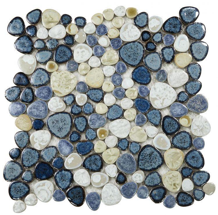 Growing Ocean Pebble  Porcelain  Mosaic