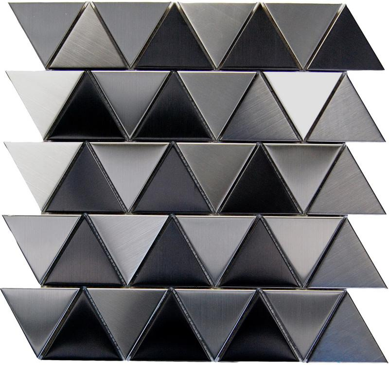 Stainless Steel Mosaics Crater Hb Ygs058-1 Triangle With Black Polished   Mosaic (Discontinued)
