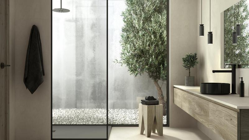 Group 1 Natural Tiles Sasea Standard Size 28x28, Smooth-Matte, Greige, Square, Porcelain, Tile