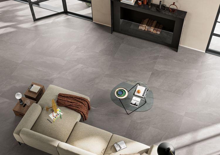 Ashima Grey Matte, Glazed 24x48 Porcelain  Tile