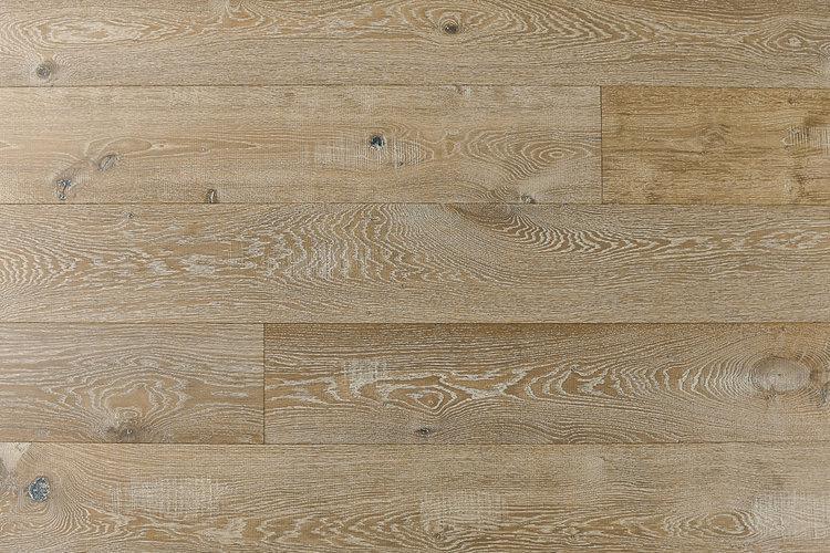 Audere By Montserrat Rich Ecru 9xfree length, Wire-Brushed, Tan, European-Oak, Engineered-Hardwood, Wood