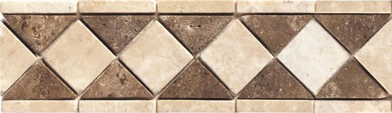 Stone Decorative Accents Sand Waln Dia Border Textured, Mixed, Mosaic