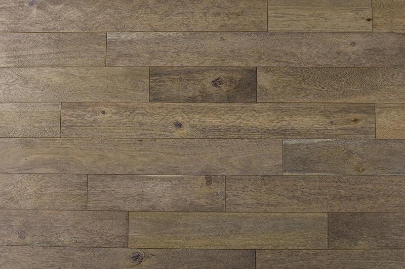 Indo Acacia Whitewash Tempest 4.75xfree length, Textured, White, Solid-Hardwood, Wood