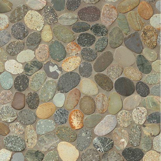 Hemisphere Riverbed Pebble Matte   Mosaic