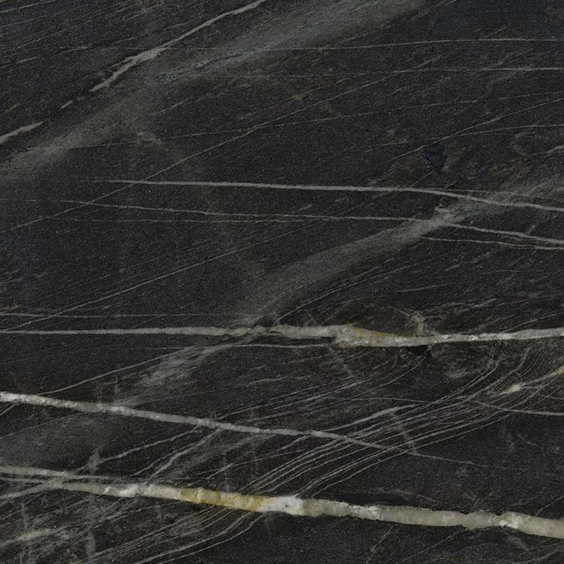 Quartzite Slabs Belvedere 20 mm, Brushed, Black, Granite, Slab