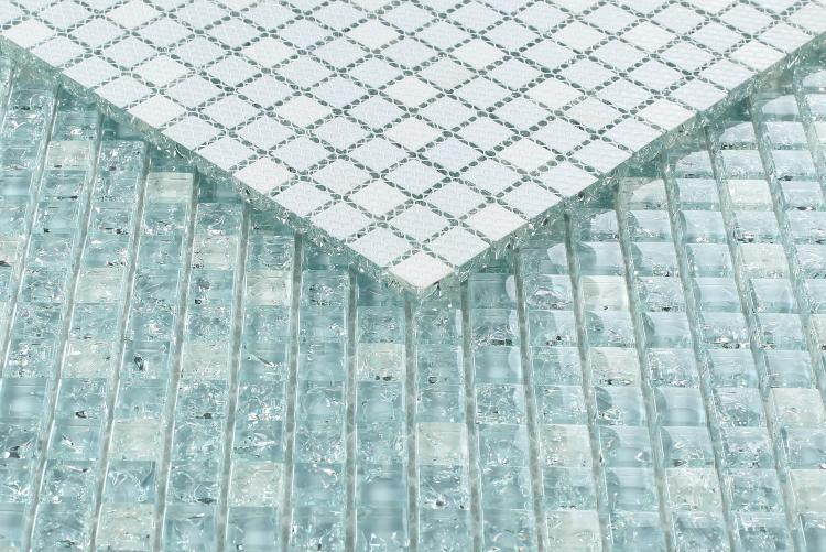Icy Ocean 5/8x5/8 Mini, Square  Glass  Mosaic