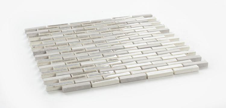 Jewel Soft Grey Glass  Mosaic