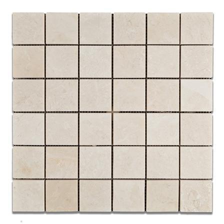Marble Botticino Turkish 2x2 Square Tumbled   Mosaic