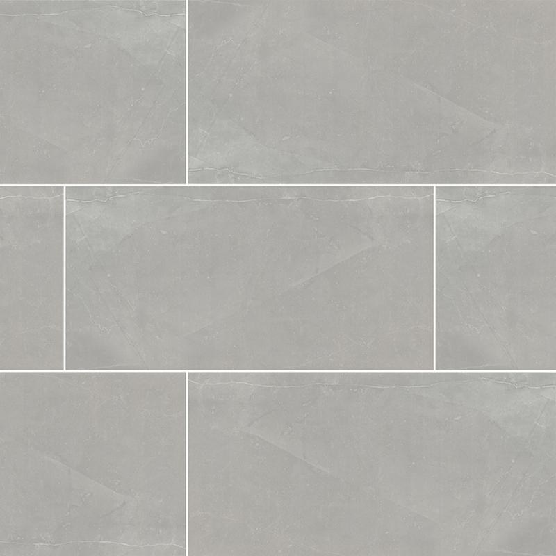 Porcelain Tile Sande Grey 12x24, Polished, Dark Grey, Rectangle