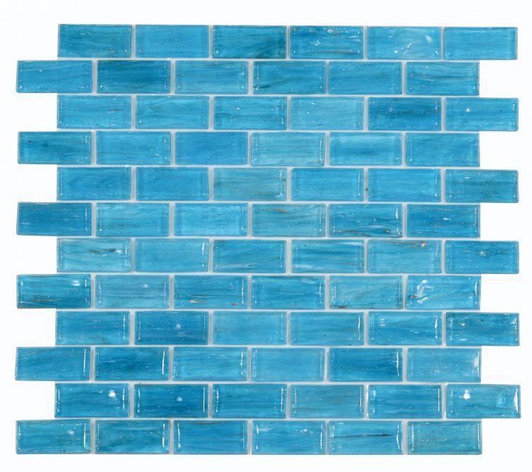 Hot Sapphire Brick  Glass  Mosaic