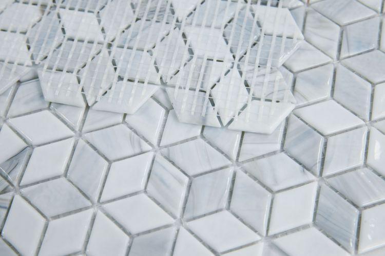 Hot Cube Dawn Cubic  Glass  Mosaic