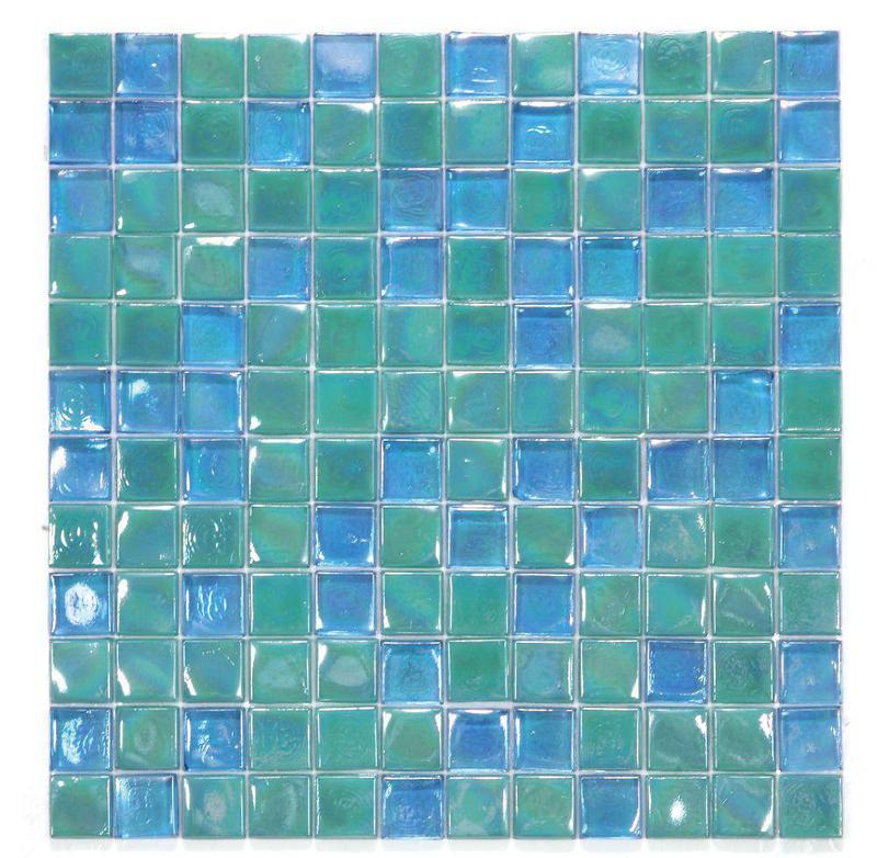 Laguna Lake 1x1 Square  Glass  Mosaic