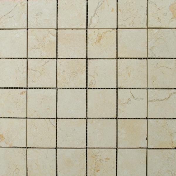 Limestone Dorado 2x2 Square Honed   Mosaic