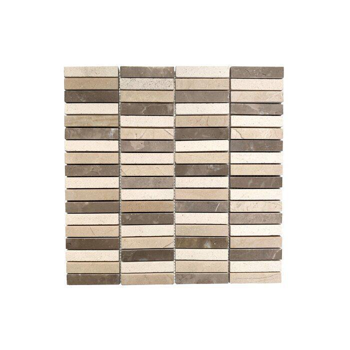 Stone Mosaic Blend 5/8x3  Polished Limestone