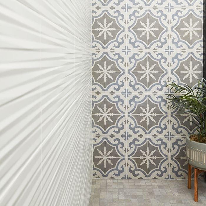 Cementine Retro 2 8x8, Glazed, Square, Porcelain, Tile