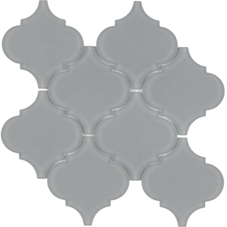Arabesque Grey Frosted Glass  Mosaic