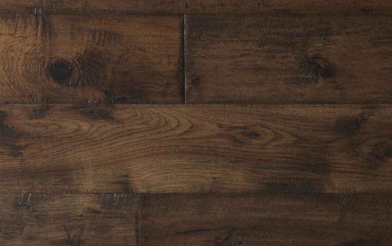 Mesa Hickory Collection Rustic Java 7.5xfree length, Hand-Scraped, Brown, Engineered-Wood