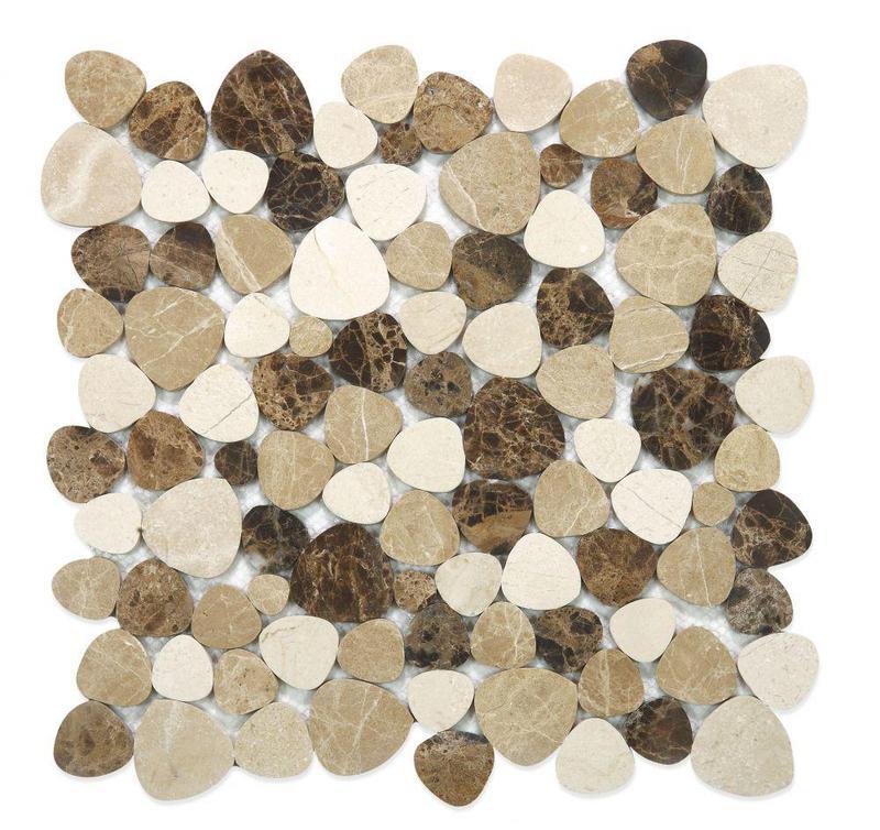 Aphrodite Spain Pebble Polished Marble  Mosaic
