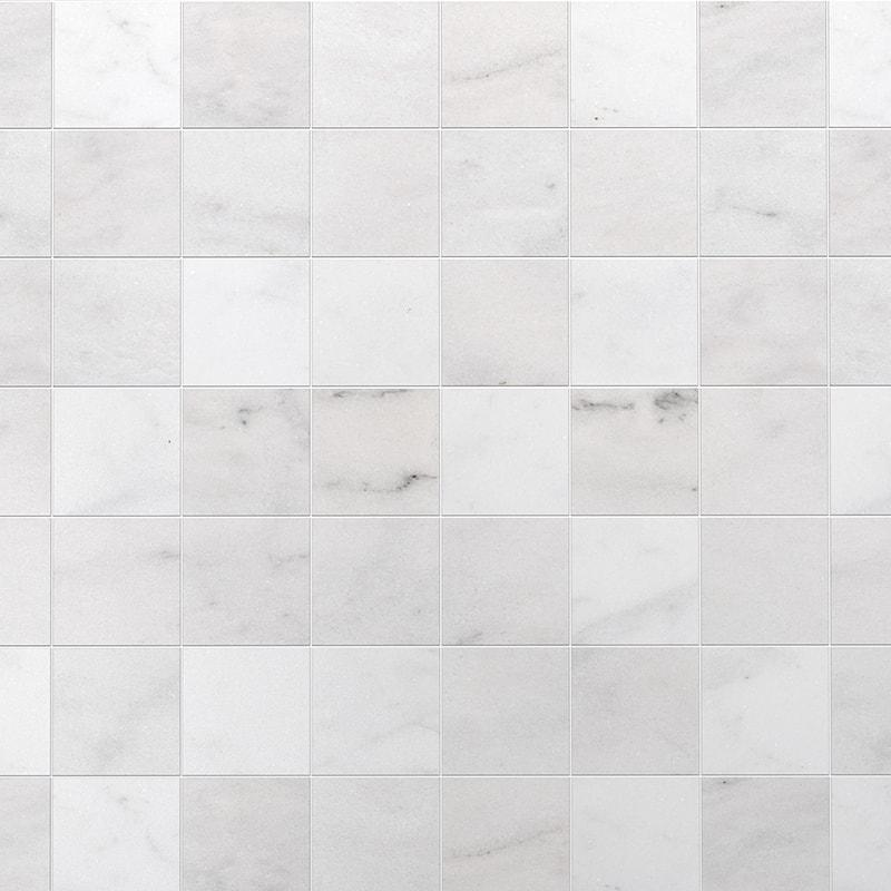Glacier Marble Tile 5.5x5.5 Honed  Classic 3/8 in