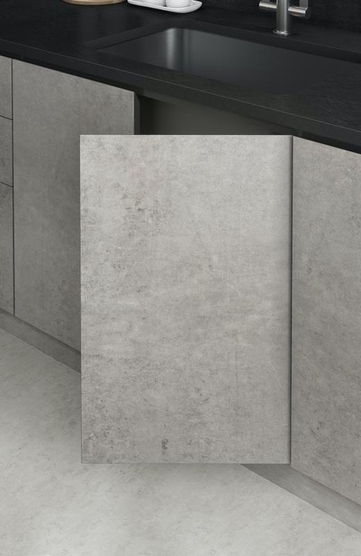 Group 2 Industrial Tiles Nilium Standard Size 28x56, Smooth-Matte, Light Grey, Rectangle, Porcelain, Tile