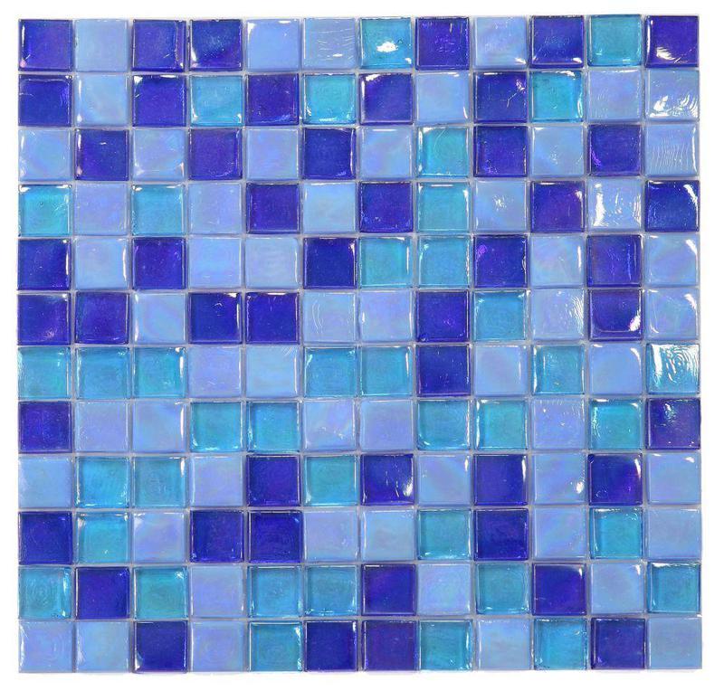 Laguna Ocean Square  Glass  Mosaic