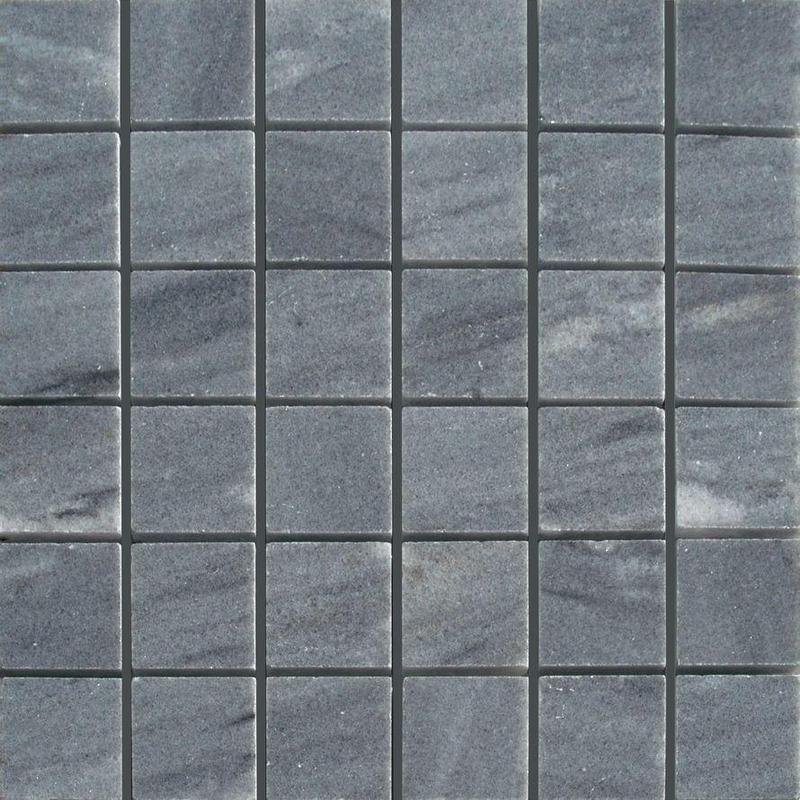 Grey Stream 2x2 Square Polished Marble  Mosaic