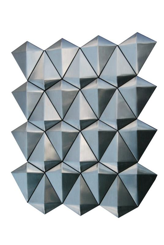 Stainless Steel Mosaics Columba Hb Ygs076-1 Large Diamond Brushed   Mosaic (Discontinued)