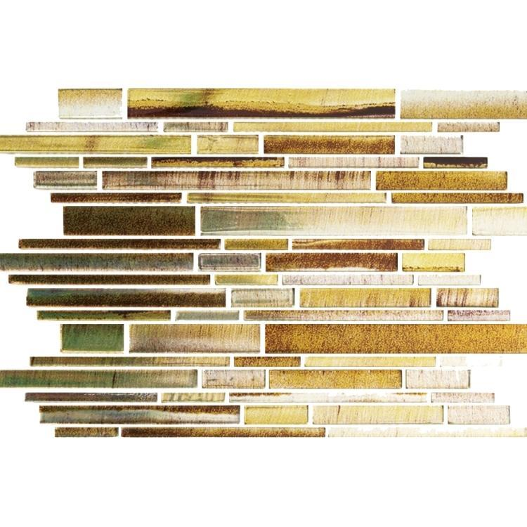 Linear Glass Zodiac Peridot Stacked    Mosaic