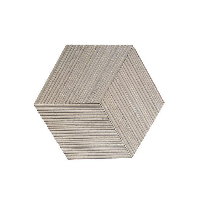 White Oak Marble Tile 10.5x12 Honed  3d