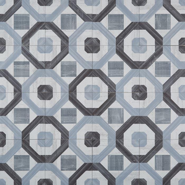 Cementine Posa 3 8x8, Glazed, Square, Porcelain, Tile