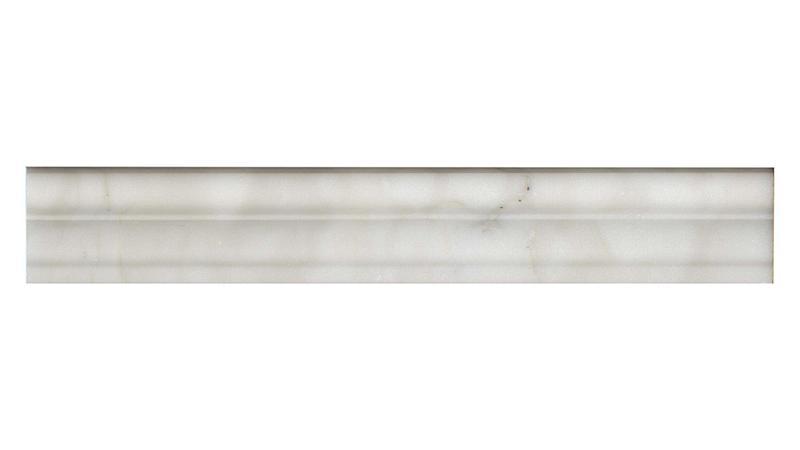 Calacatta Marble Trim 2x12 Honed   0.38 in Chair Rail