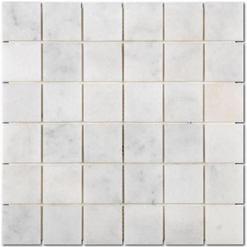 Carrara White 2x2 Square Honed Marble  Mosaic