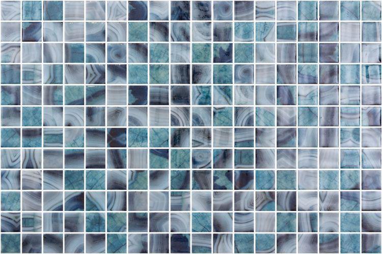 Onix From Spain Vanguard Borneo 1x1 Square Polished Glass  Mosaic