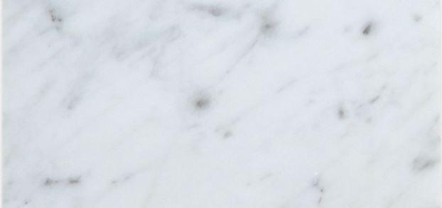 Italian Carrara White Marble Tile 6x12 Honed