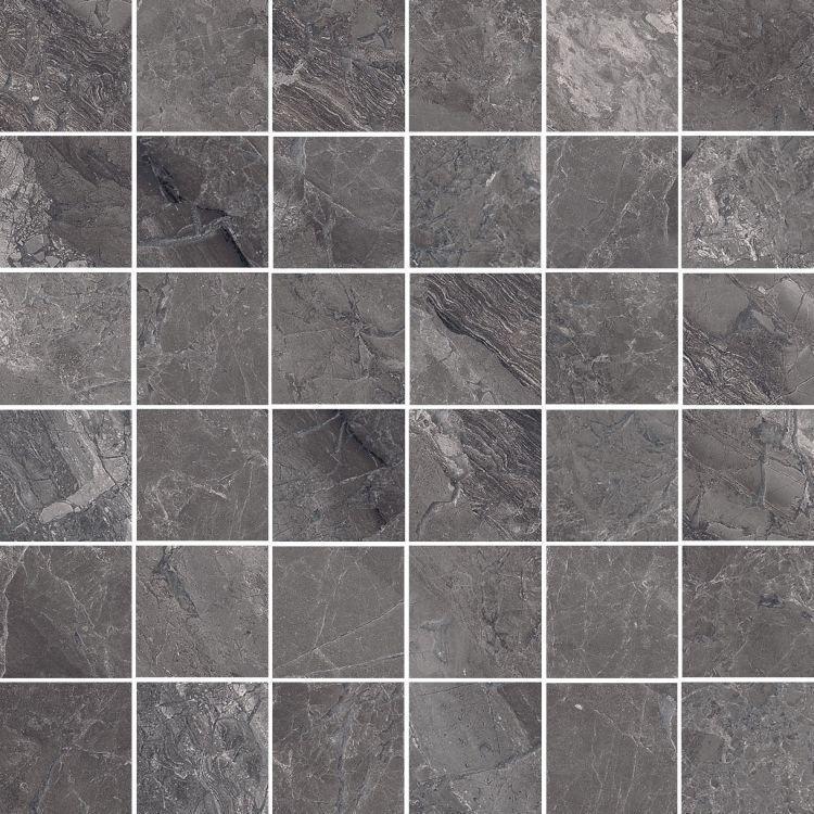 Supreme Charcoal Natural 2x2 Square Matte Porcelain  Mosaic