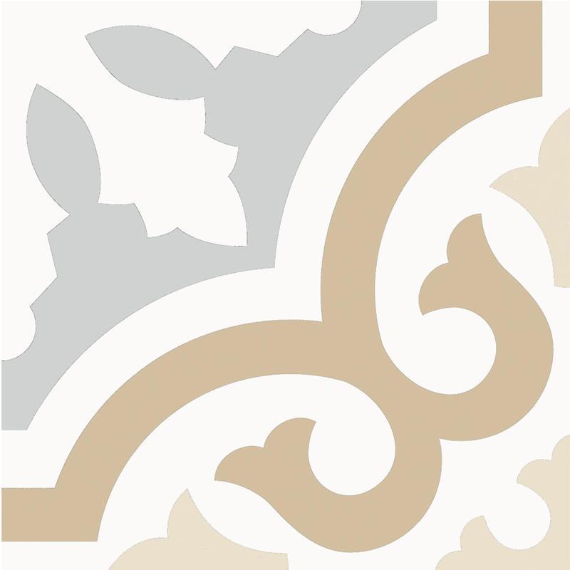 Casablanca Fond 8x8, Matte, Multi-Color, Square, Porcelain, Tile