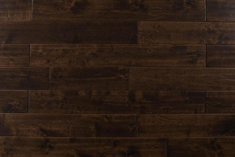 Maple Walnut 4.75xfree length, Hand-Scraped, Brown, Solid-Hardwood, Wood